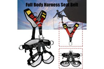 Outdoor Full Body Safety Rock Climbing Tree Rappelling Harness Seat Belt(On Sale)