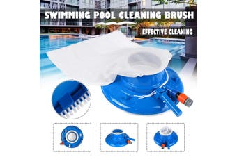 Pool Cleaner Portable Swimming Pool Pond Fountain Vacuum Brush Cleaner Cleaning (blue,Type 2)