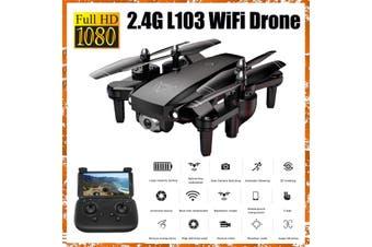 720P 2.4G Wifi Drone 150M Remote Control APP Gesture Shot Smart Follow up RC Quadcopter Photography L103 Mobile Remote Control/Optical Flow Positioning-- Cyan / Black / White(black,Tpye C)
