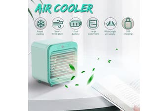 3 in 1 Air Cooler Portable mini Air Conditioner Humidifier Purifier Cooler Fan Water Cooling For Room Home Bedroom Office Dorm(green,3IN1 Fan with Air Cooler)