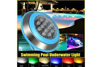 12/24V Waterproof RGB LED Swimming Pool Light Underwater Fountains Lamp Garden Pond Light(blue,Blue)