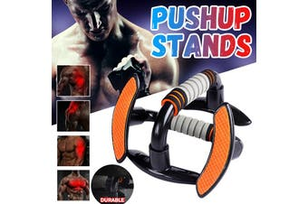 1Pair Push-Up Bars Foam Handles Press Pull Up Stand Home Exercise Gym Chest - orange