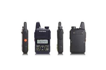 BAOFENG 2 PCS 20Ch Driving Hotel Civilian Two Way Walkie Talkie Radio UHF 400-470MHz(black,US PLUG)