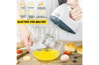 Electric Powered 7 Speed Kitchen Handheld Mixer Whisk Egg Beater Cake & Baking