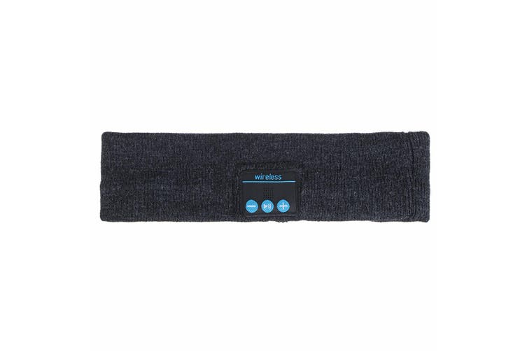 Wireless bluetooth Sports Headband Headphones Run Gym Sleep Music Headset Mic (grey,Type1 Sports Headband)