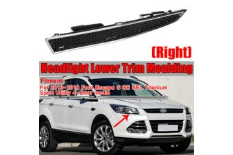 Right Passenger Side Headlight Lower Trim Moulding For Ford Escape 2013-2016(black,1PCS Right)