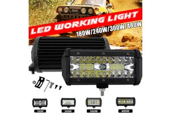 1PCS LED Work Lights Bar Flood Spot Lights Driving Lamps Offroad Car SUV 180-480W(Type D 500W-1Pc)