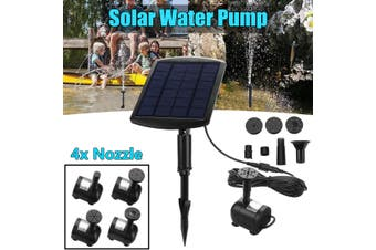 Solar Power Powered Water Fountain Pump For Pool Pond Garden Outdoor Submersible(black,Fountain and 3m Cable)