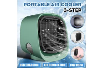 3 Gear Air Conditioner Humidifier Purifier Light Personal Air Cooler Air USB Powe(pink)