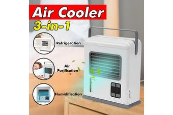 Portable USB Mini Air Conditioner Cool Cooling Cooler Fan Humidifier Purifier Car Air Conditioning Cooler Fan for Home Office