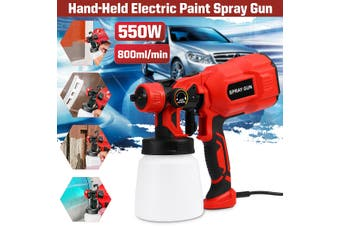 550W Paint Sprayer Craft Painting Tool Spray Model Airbrush Electric Paint Sprayer Painting Sprayers (red,800 ml)