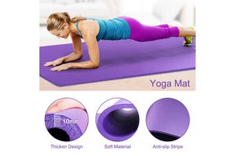 5Pcs Yoga Mat Set Pedal Tension Rope Pilates Ball Exercise Fitness Gym Workout(purple)