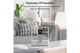 4.1L Humidifier Ultrasonic Air Humidifier Diffuser Purifier Lonizer UV Sterilization Timing Function Settings Remote Air Humidifier Aromatherapy White/ Silver