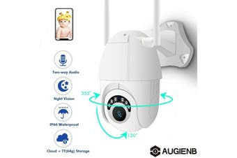 AUGIENB 1080P HD Wireless CCTV WIFI Onvif IP Camera IR Night Outdoor Dome Security IR Cam (UK Plug 1080p)