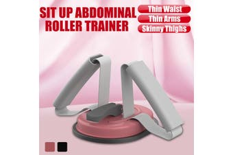 Sit up Abdominal Roller Trainer ab Crunch Core Worker Abs Exercise Machine Gym (grey)