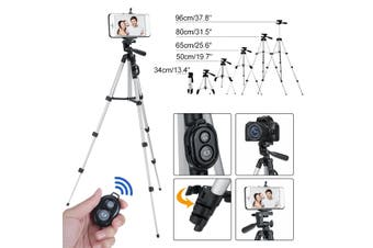 Long Tripod Camera Stand bluetooth Remote Control + Phone Holder for Cell Phone(Without Remote Control)