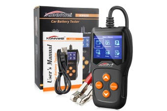 KONNWEI KW600 Car Auto Battery Analyzer 100 to 2000CCA Tester 12V Cranking Charging Diagnostic Scanner