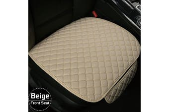 Flax Car Seat Cover Protector Front Seat Back Cushion Pad Mat For Car Truck Suv -- Backrest - beige