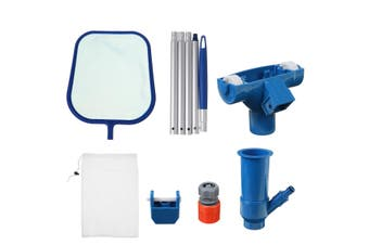 Swimming Pool Vacuum Cleaning Tool Set Suction Head Skimmer Net Kit Accessories(US Standard)