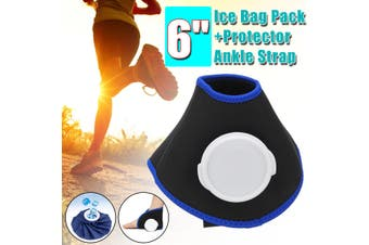 "6"" Ice Bag Heat Cold Cooler Pack Reusable Knee Ankle Elbow First Aid Pain Relief"