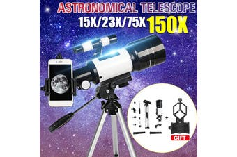 150X 70mm Aperture Astronomical Telescope Refractor Tripod Finder For Beginner(Without Tripod)