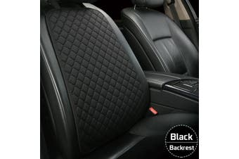 Flax Car Seat Cover Protector Front Seat Back Cushion Pad Mat For Car Truck Suv -- Back Seat - blackgold