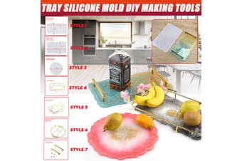 Vegetable Fruit Tray Silicone Mold DIY Epoxy Resin Handicraft Making Tools Bars(Style 3)