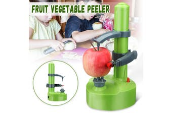 DC6V 0.5A Multifunctional Electric Stainless Steel Potato Vegetable Fruit Peeler Automatic Peeling Tool Kitchen Machine(green)