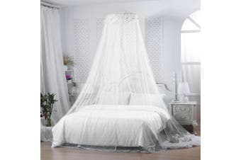 Mosquito Net Bed Canopy Netting Fly Insect Protection Bed Outdoor Curtain Dome(white)