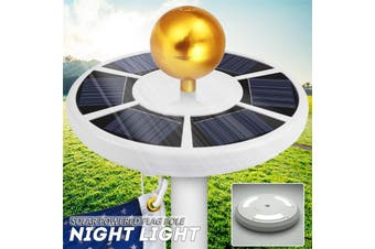 42 LED Solar Flag 15ft-25ft Pole Lights Camping LED Light Garden Night Light IP65 Waterproof Flagpole Downlight Tent(42LED)