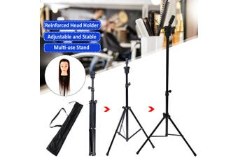 Tripod Stand Hairdressing Training Mold Mannequin Head Holder Adjustable Clamp