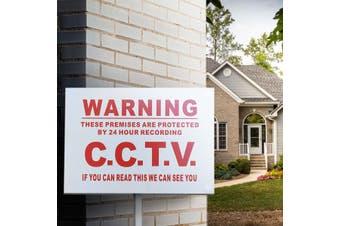 A3 Warning 24 Hour CCTV Camera Video Metal Sticker Security Safety Surveillance