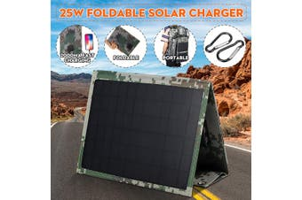 25W 5V Foldable Solar Panel Charger Solar Dual USB Backpack Camping Hiking for Huawei iPhone Samsung