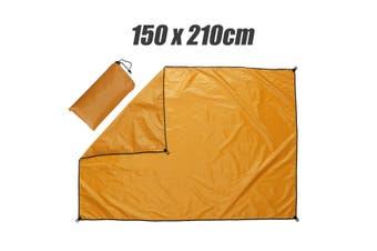 4 Colors Waterproof Outdoor Camping Picnic SunProof Pad Moisture-proof Mat (orange,Rectangle 150x210cm)