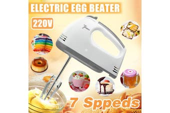【7 Speed】(220V-240V) 300W Mini Electric Handheld Mixer Portable Egg Beater Whisk Baking Kitchen Tool Hand Whisk Tool Egg Stirring Mixer Automatic Cream Beater For Baking Cake Making