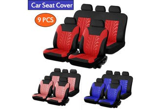Car Seat Cover Universal Car Seat Cover Fabric Special Craft Wish Tire Pattern Four Season Use(pink,9 PCS)