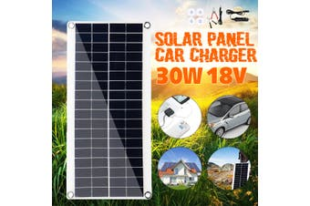 18V 15W Solar Panel Portable Waterproof Solar Panel with Clips For Car Phone Charging Outdoor Sport(45W 1PC)