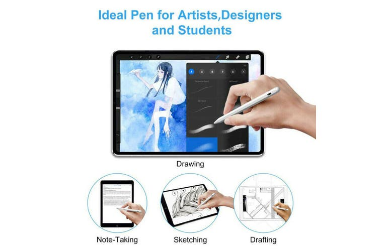 Table Active Stylus Pencil Touch Screen Pen for 2018 iPad(6th Gen)/iPad Pro 11/12.9 Inch/Air(3rd Gen)(white)