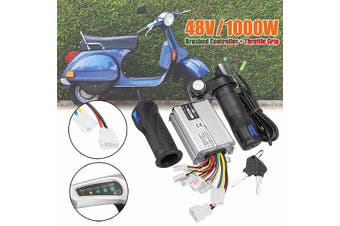 48V 1000W Electric Motor Brushed Controller + Throttle Grip(48V 1000W)