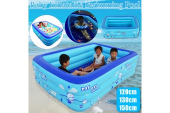 120/130/150cm Baby Swimming Pool Inflatable Kids Pool Bathing Tub Outdoor Indoor(51.2inch(1.3 m))