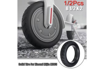 """1/2Pcs 8.5"""" Twill Anti-skidding Scooter Solid Tire Spare Part for Xiaomi Mijia M365 (Color:Black)(1Pc)"""