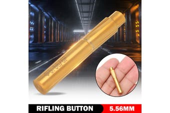 6 Grooves Push Rifling Button Double Layer Blade Tungsten Steel Chamber Reamer - gold