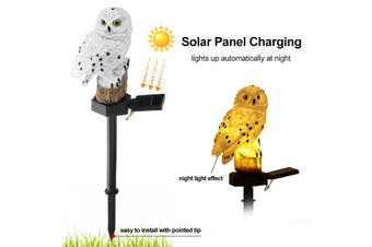 Outdoor Solar Lawn Light Owl Shape IP65 Waterproof For Home/Garden/Park(white,White)