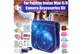 12 in 1 Camera Accessories Bundles Kit For Fujifilm Instax Mini 8 9 Rainbow Case