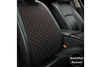 Flax Car Seat Cover Protector Front Seat Back Cushion Pad Mat For Car Truck Suv -- Backrest - blackredassorted