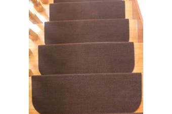 14 Grey Glitter Carpet Stair Treads Stain Free Grey Sparkle Pads! 14 Large Pads(coffee,45x20cm)