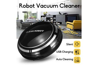 【Free Shipping + Flash Deal】Automatic USB Rechargeable Smart Robot Vacuum Floor Cordless Cleaner Sweeping(black)