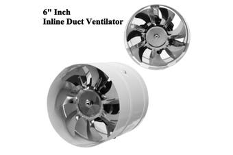 6'' Inline Duct Fan Booster Exhaust Ventilator Ventilation Hydroponic Vent Air