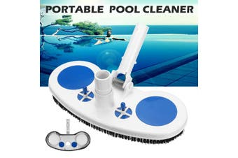 Pool Cleaner Portable Swimming Pool Pond Fountain Vacuum Brush Cleaner Cleaning (blackwhite,B)