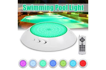 【Free Shipping + Flash Deal】 Waterproof Underwater Swimming Pool Spa LED Light RGB Lamp + Controller 12V 18W (AU Plug)